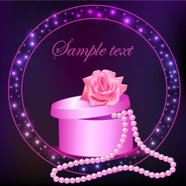 rose and box with pearl necklace