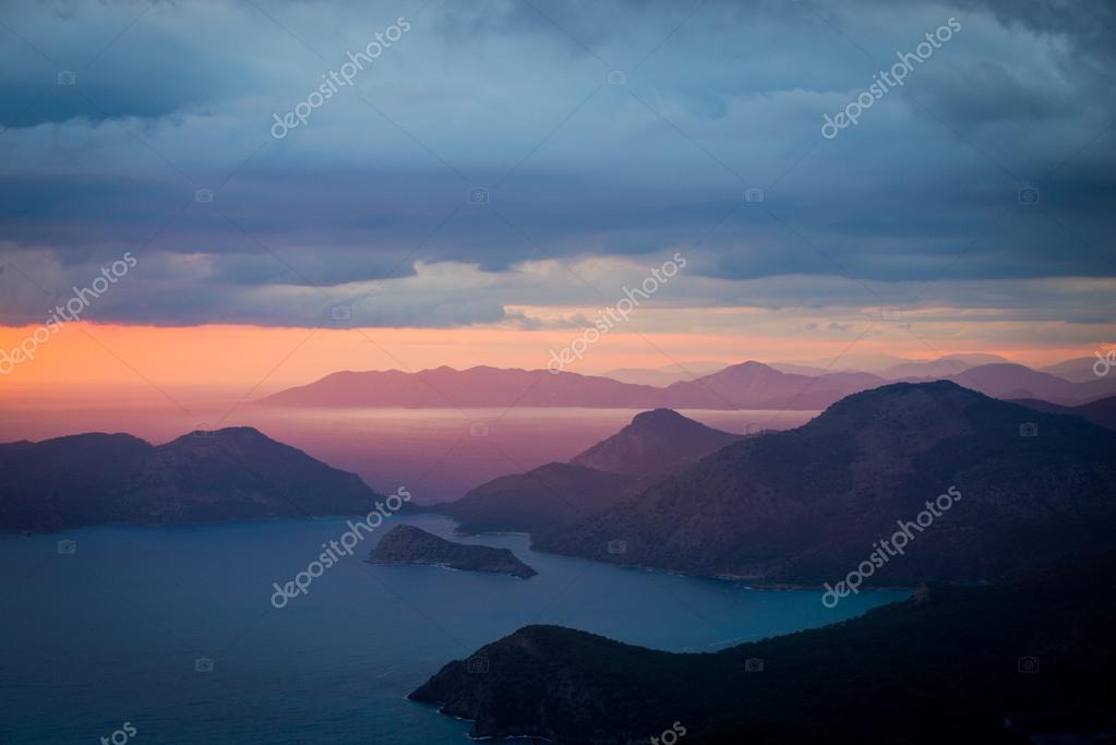 beautiful wallpaper for your desktop, landscape sunset coast of