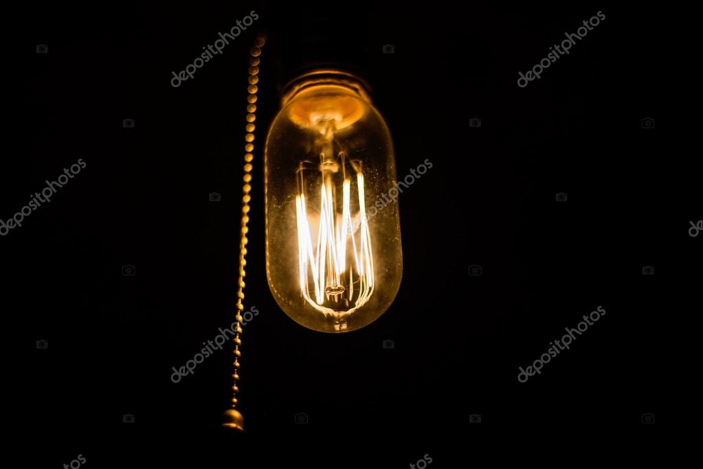 Lampada ad incandescenza dell annata u foto stock yarygin