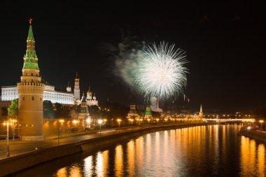 Büyük bir selam Moskova'da Kremlin üzerinde