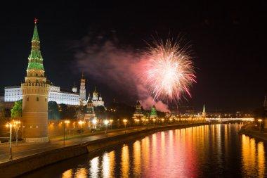 Güzel bir selam Moskova'da Kremlin üzerinde