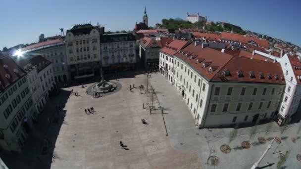 Pohled shora na hlavním náměstí. Bratislava