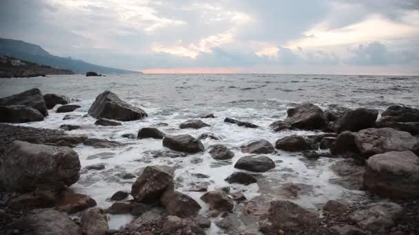 Krajina krásné moře s vlnami