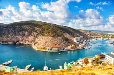 Balaklava Bay in sunny autumn day