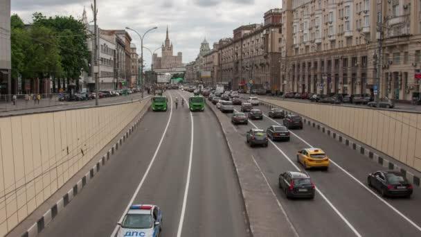 Radfahrer auf der Moskauer Radparade