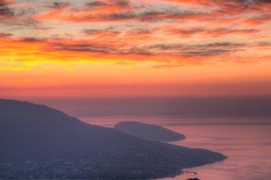 mountain of Ayu-Dag at sunrise in Crimea
