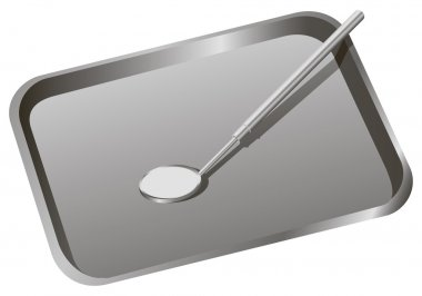 Dental tray with mirror