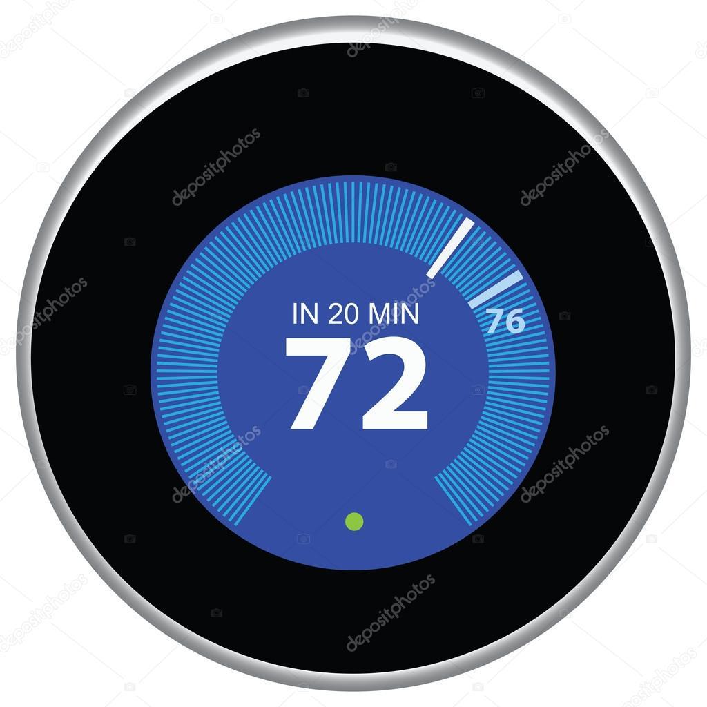Nest Thermostat Blue