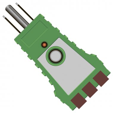 Tester with fixed state and integrity control circuits. Vector illustration. clip art vector