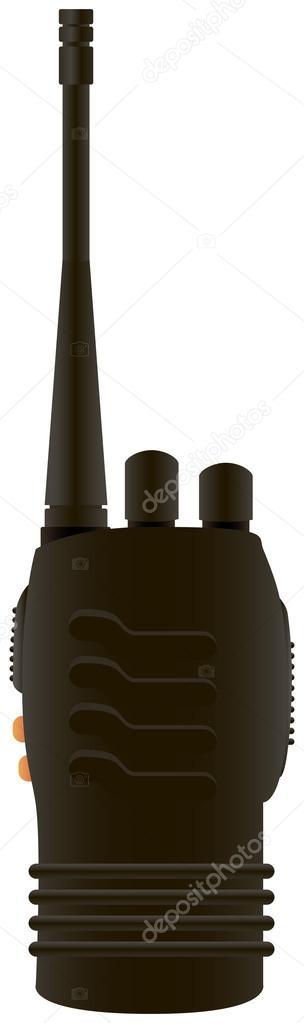 Portable radio transmitter