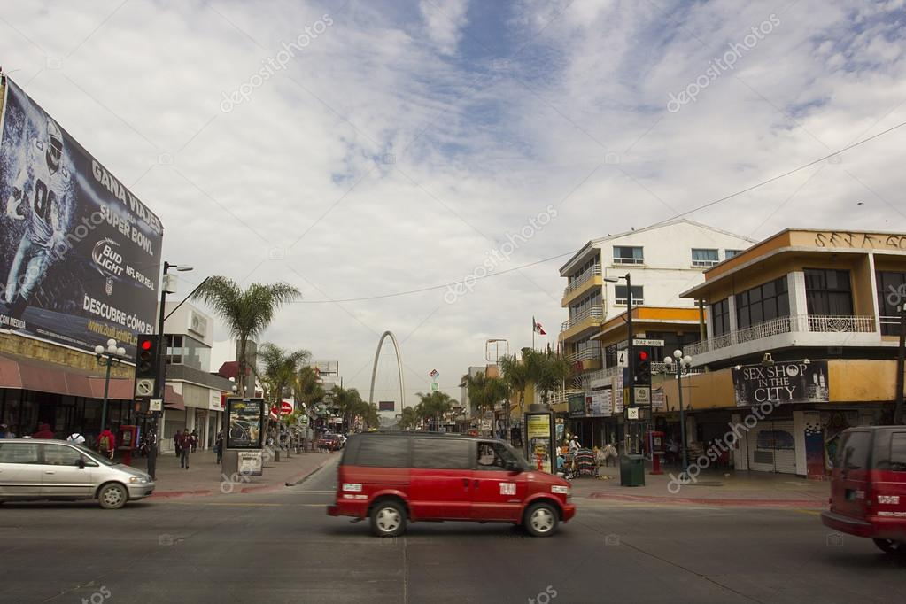 Junction on the main street of Tijuana