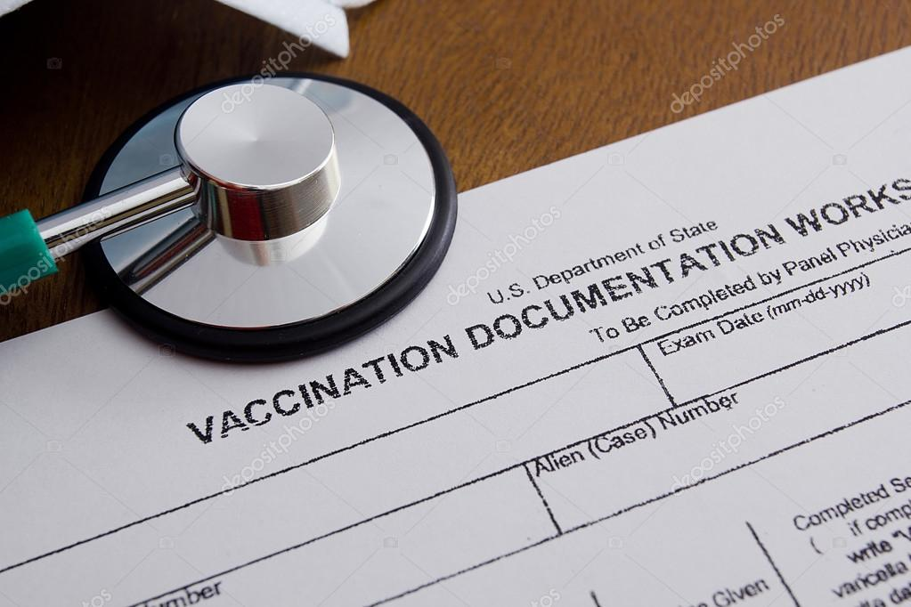 Impfung-Dokumentation-Arbeitsblatt — Stockfoto © VIPDesignUSA #72513863