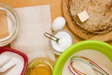 Dough preparation for pancakes