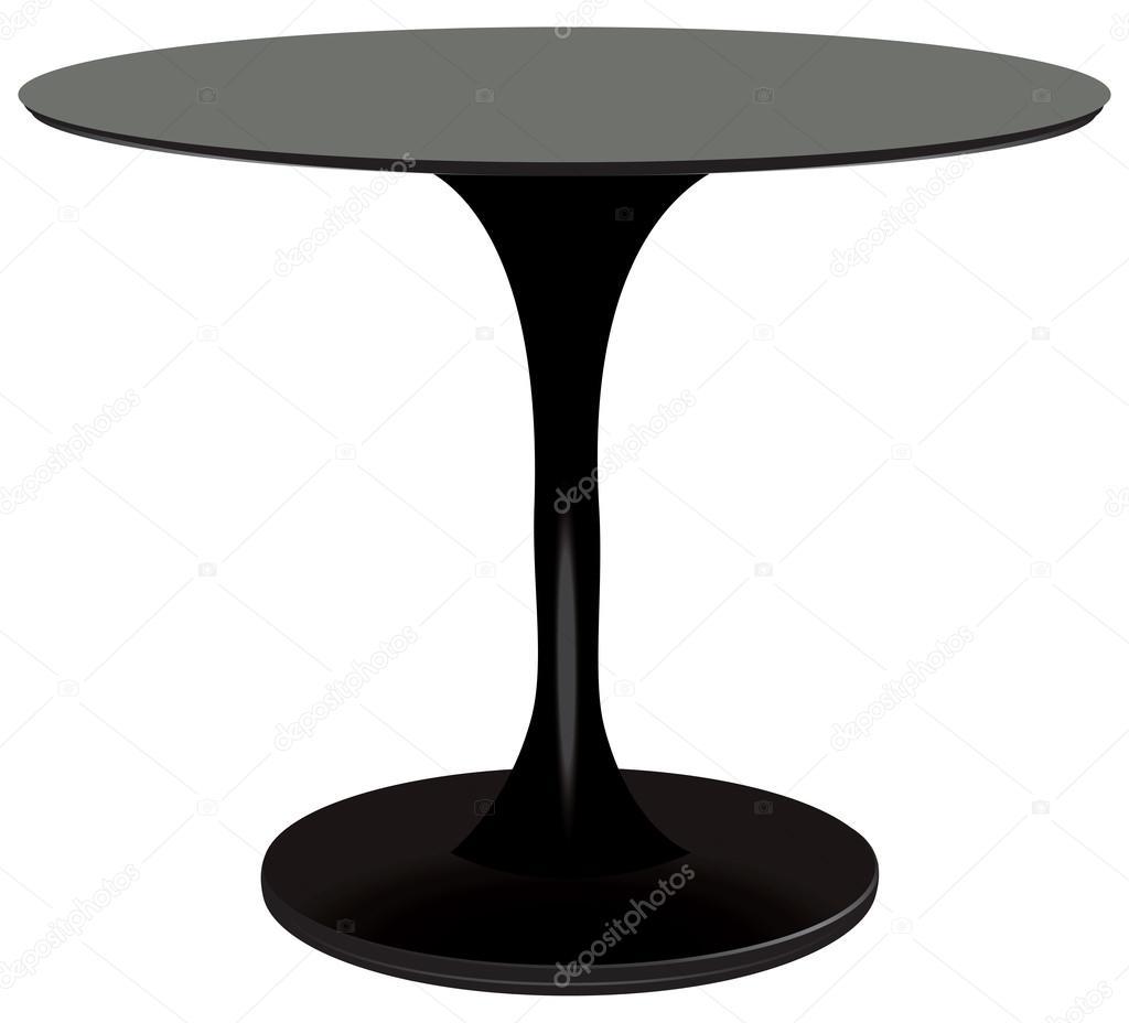 tavolo rotondo nero vettoriali stock vipdesignusaForTavolo Rotondo Nero