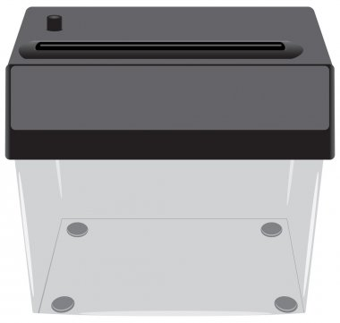 Office shredder with a transparent container