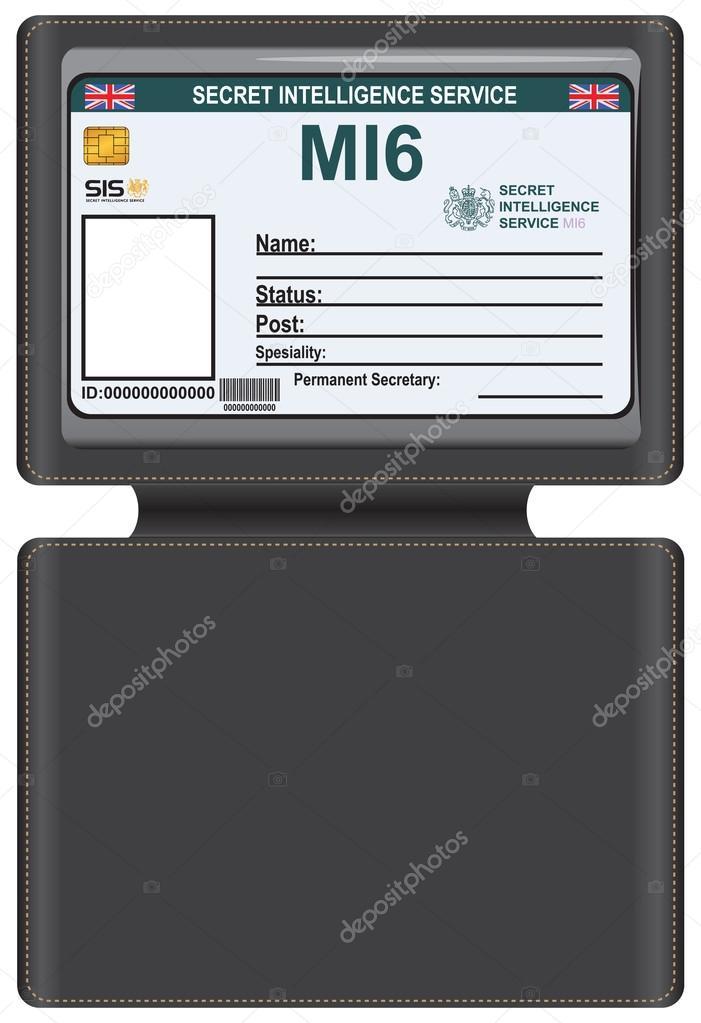 c892ef00b8 Ταυτότητα Mi6 σε δερμάτινη θήκη μεταφοράς — Διανυσματικό Αρχείο ...