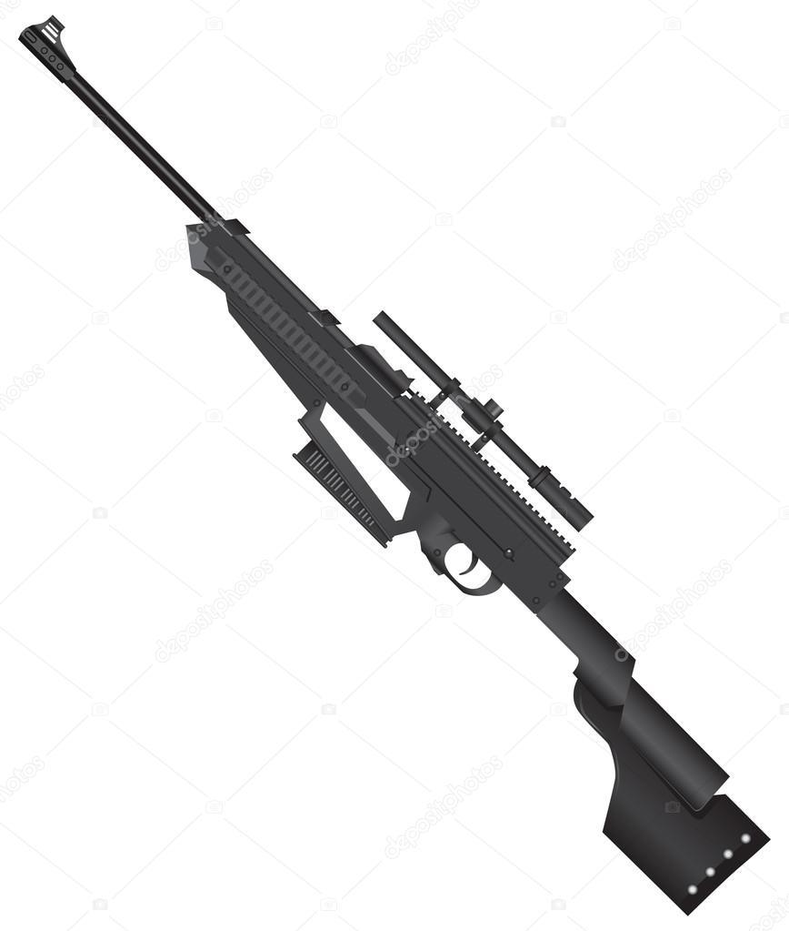 ジュニアの狙撃兵のライフル — ストックベクター © VIPDesignUSA ...