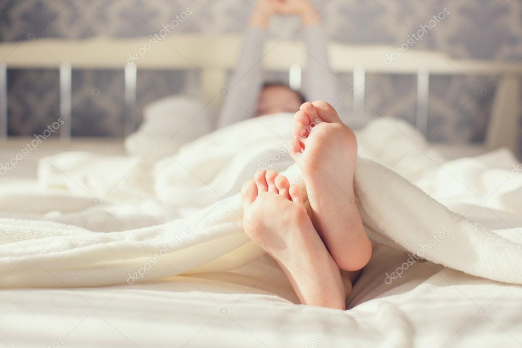 Baby Foot In White Blanket Stock Photo Golyak 103243556