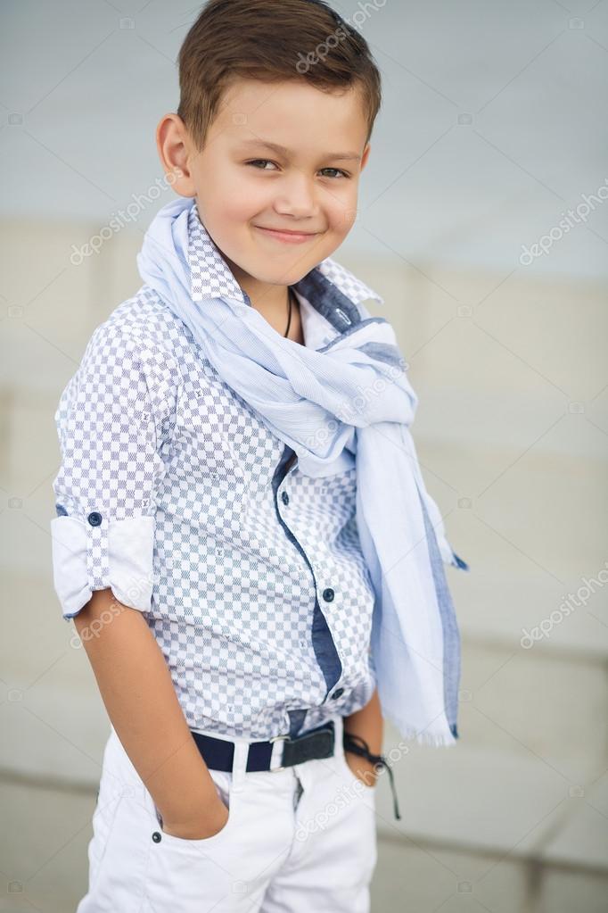 cute boy happy kid outdoors stock photo golyak 52286267