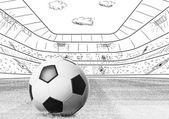Fotografie Ball auf Stadion