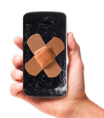 modern smartphone in hand