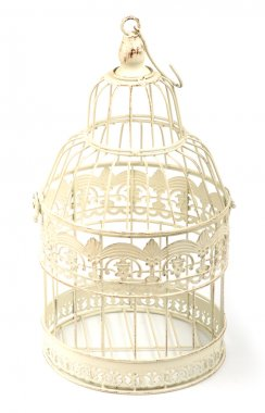 An image of birdcage on white background stock vector