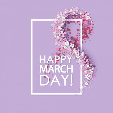 Women day background with frame flowers stock vector