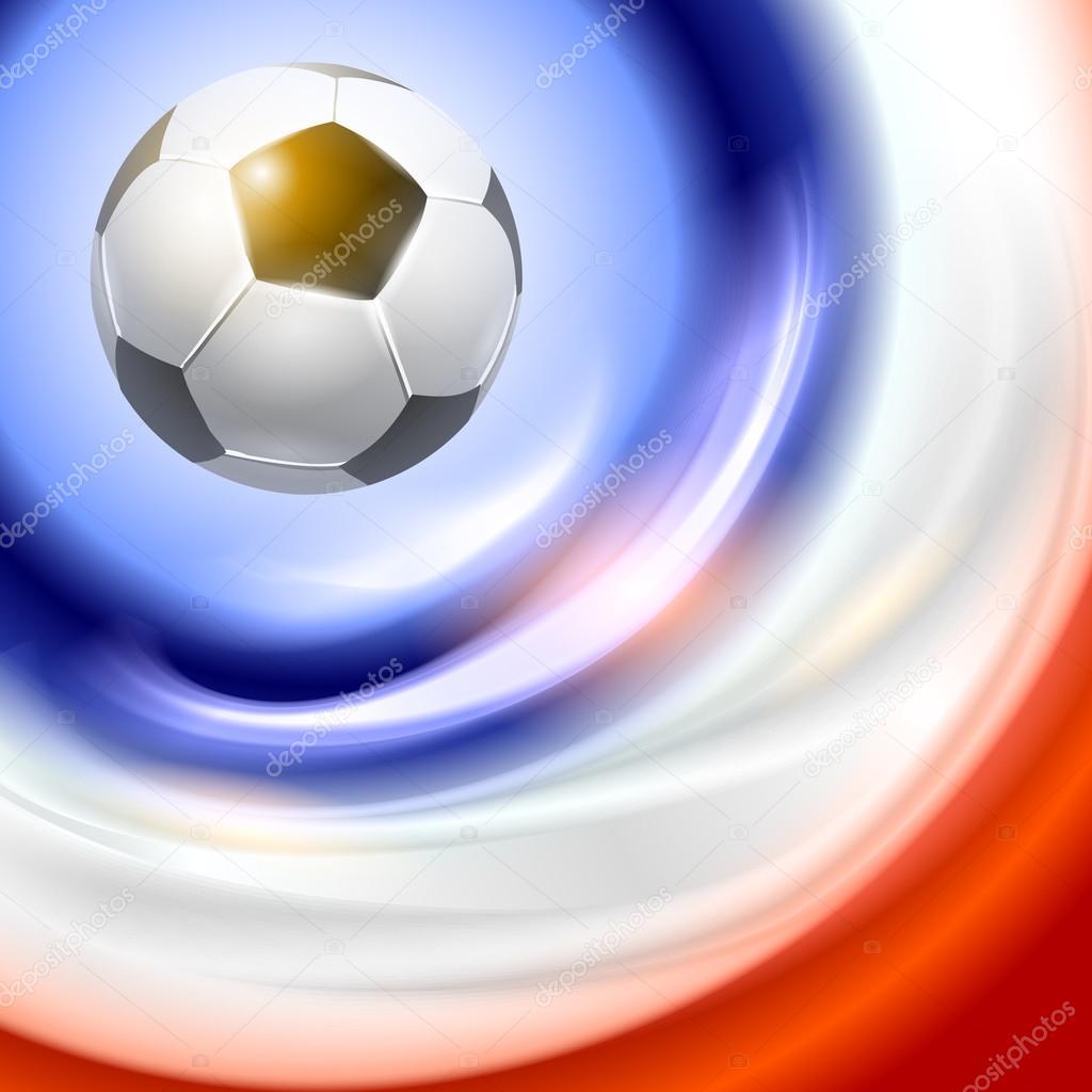 Fußball-Hintergrund mit Frankreich Flagge Farben — Stockvektor ...