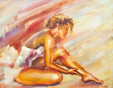 Beautiful sitting ballerina