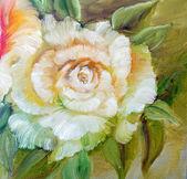 Vinage fehér sárga Rózsa