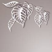 Paper Leaves Background