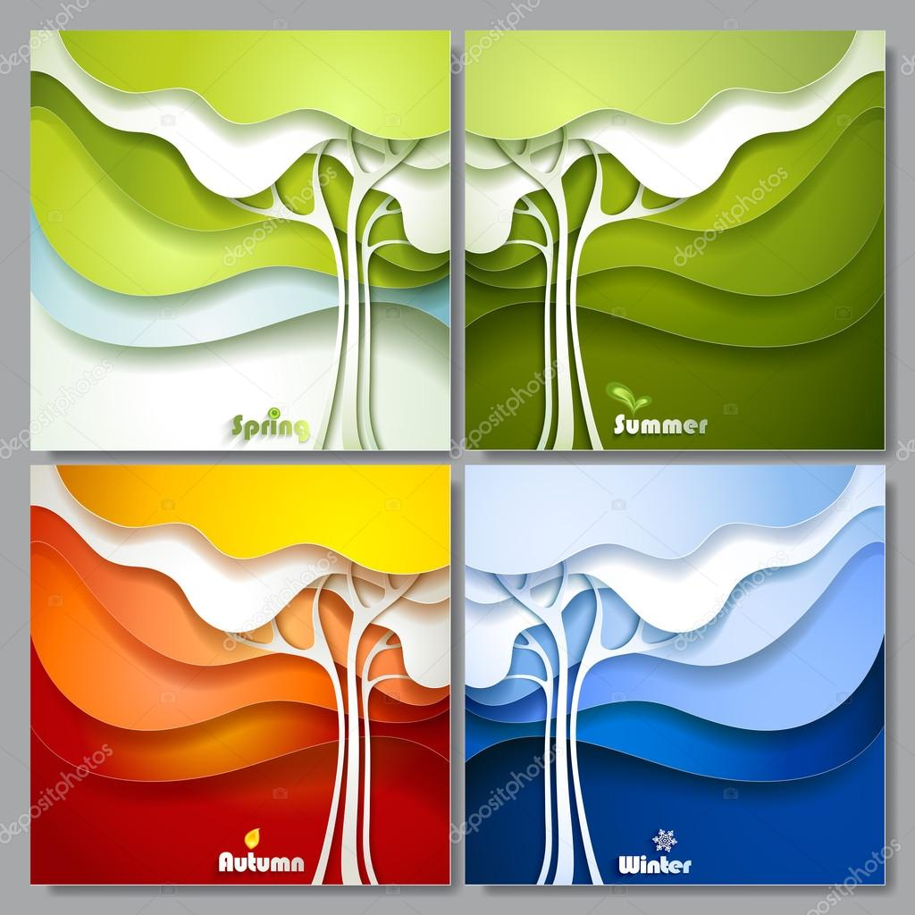 Set Abstract paper trees.