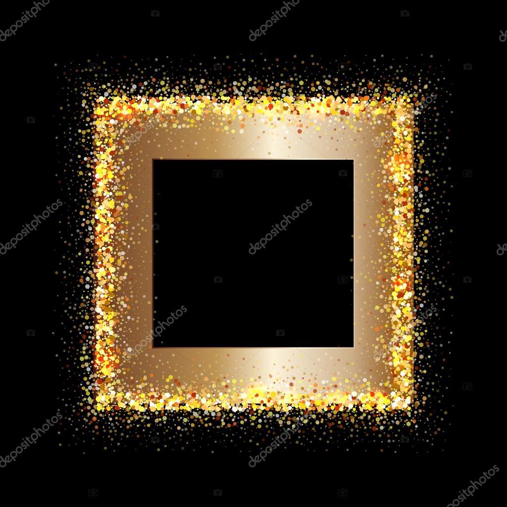 cadre dor sur fond noir image vectorielle valenty 97172662. Black Bedroom Furniture Sets. Home Design Ideas