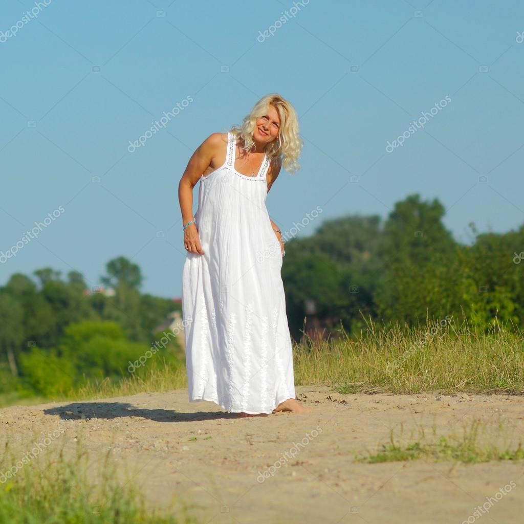 Mature blonde sandy