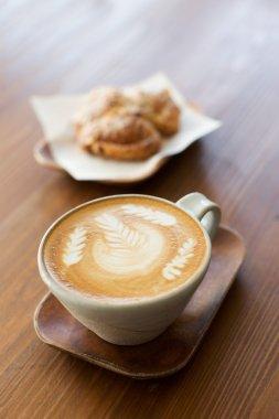 latte art in cafe