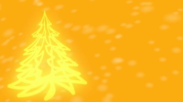 Sárga karácsonyfa