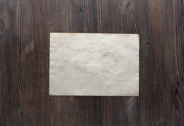 paper on old wood