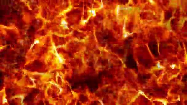 Animiertes Feuer, erzeugte Flammenhintergrund.