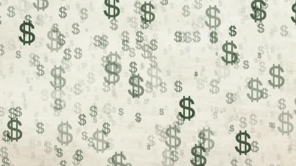 American dollar animation, money background.