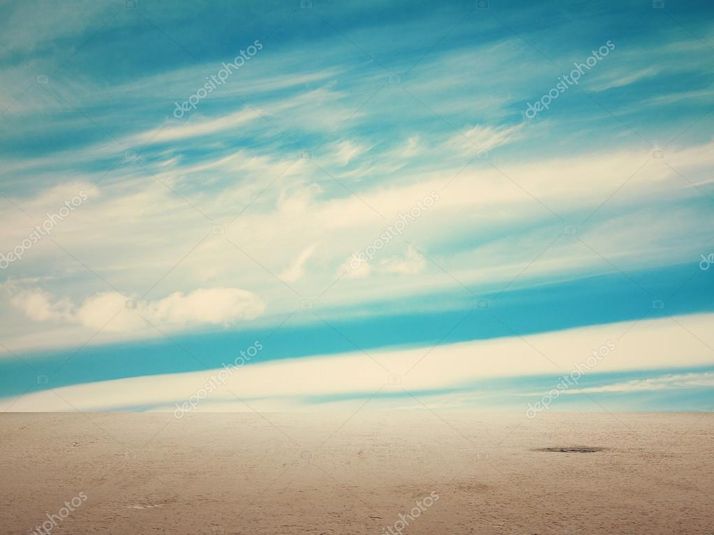 Blue sky and floor