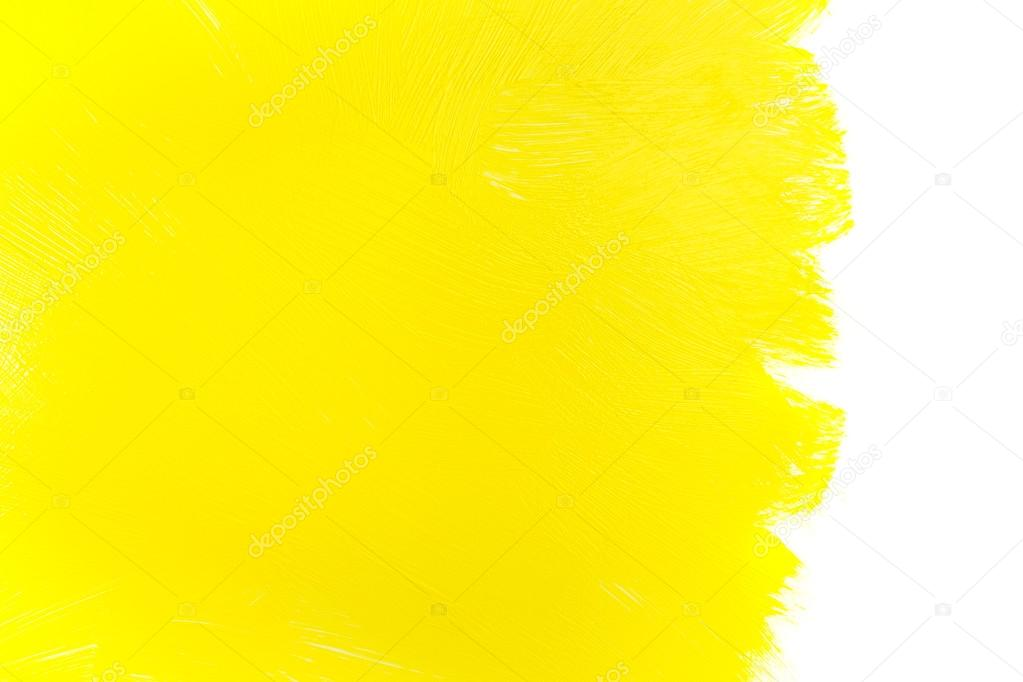 Pinceladas de tinta amarela fotografias de stock for White paint going yellow