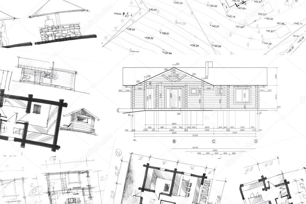 architectural hand drawings. Beautiful Hand Architectural Hand Drawings Background U2014 Stock Photo With Hand Drawings