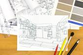 návrháři interiérů stůl detailní obrázek