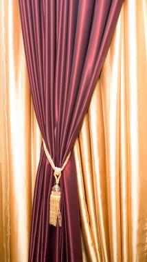 Purple velvet courtains