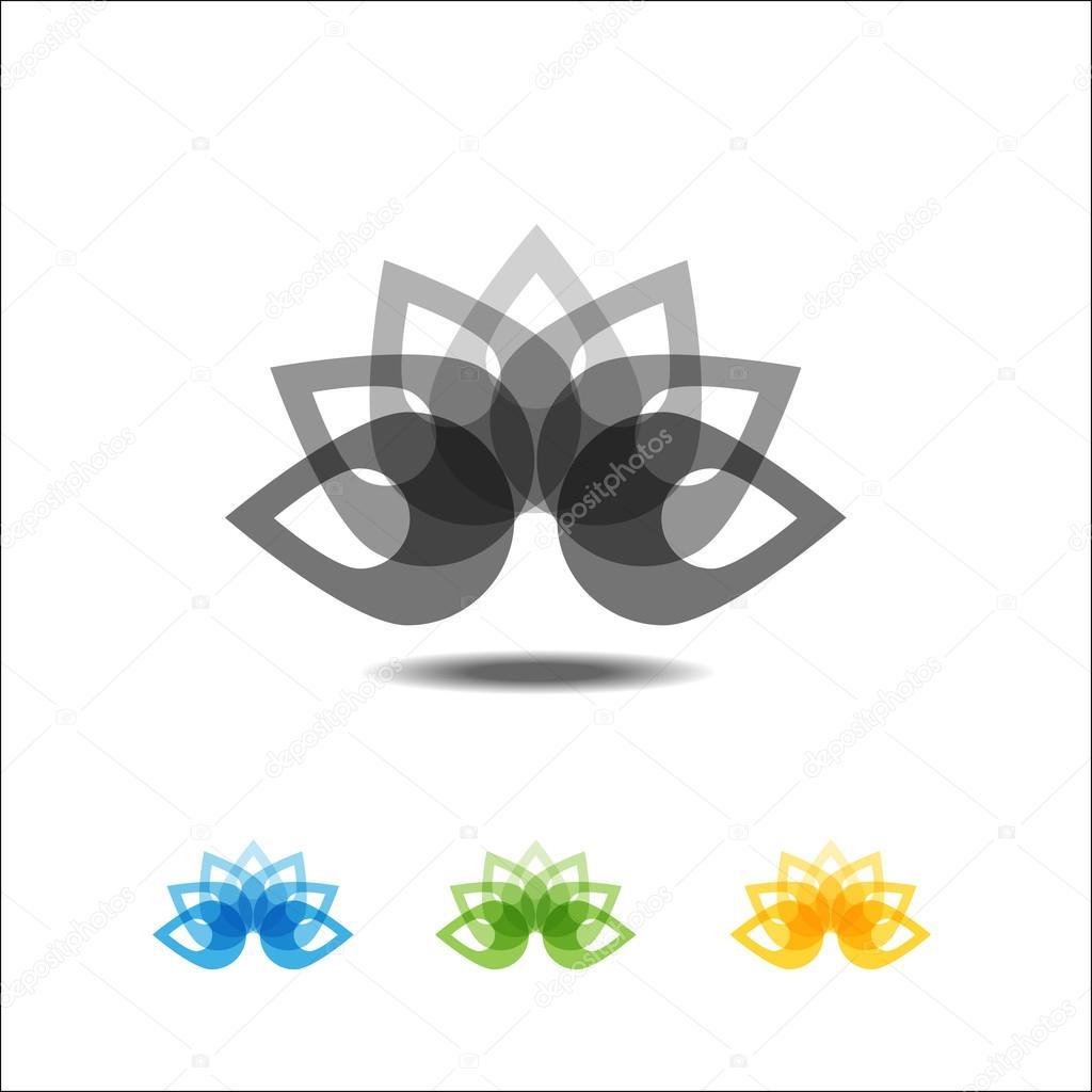 Four lotus icons
