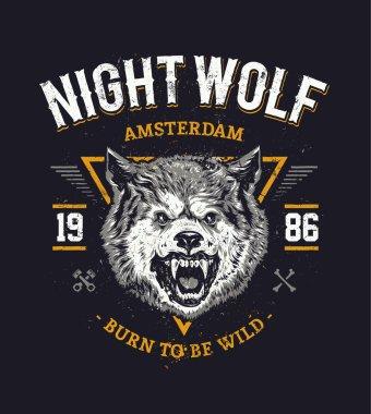 Wolf Grunge Vector