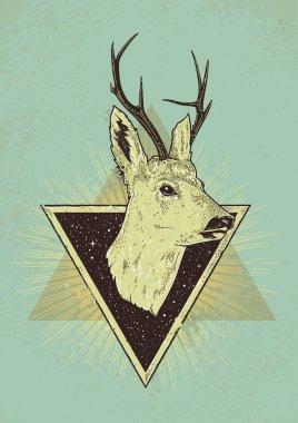 Deer Hipster Art