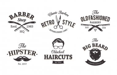Retro Barber Emblems
