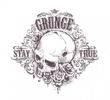 Grunge Skull Art