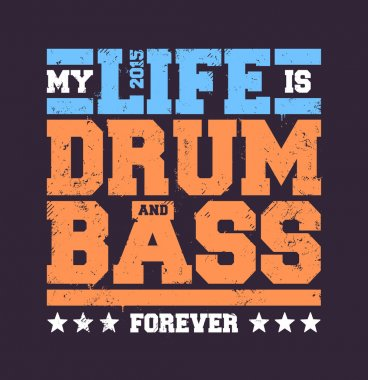 Drum and Bass Typography
